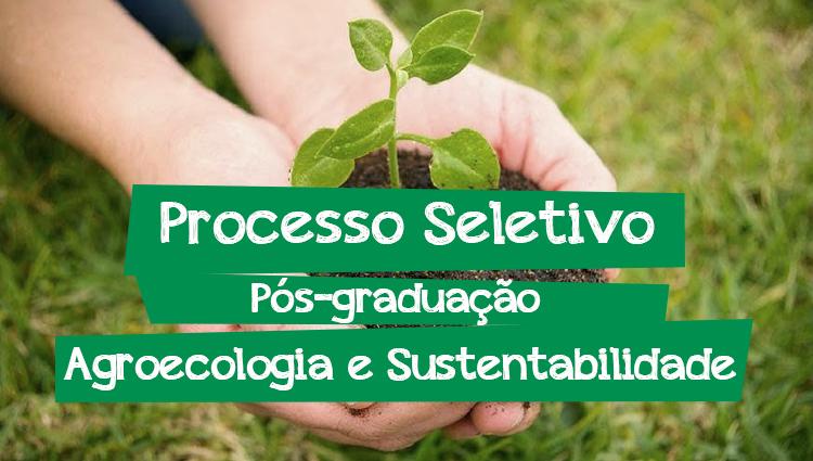 Edital 51/2019 - Pós-graduação Lato Sensu em Agroecologia e Sustentabilidade